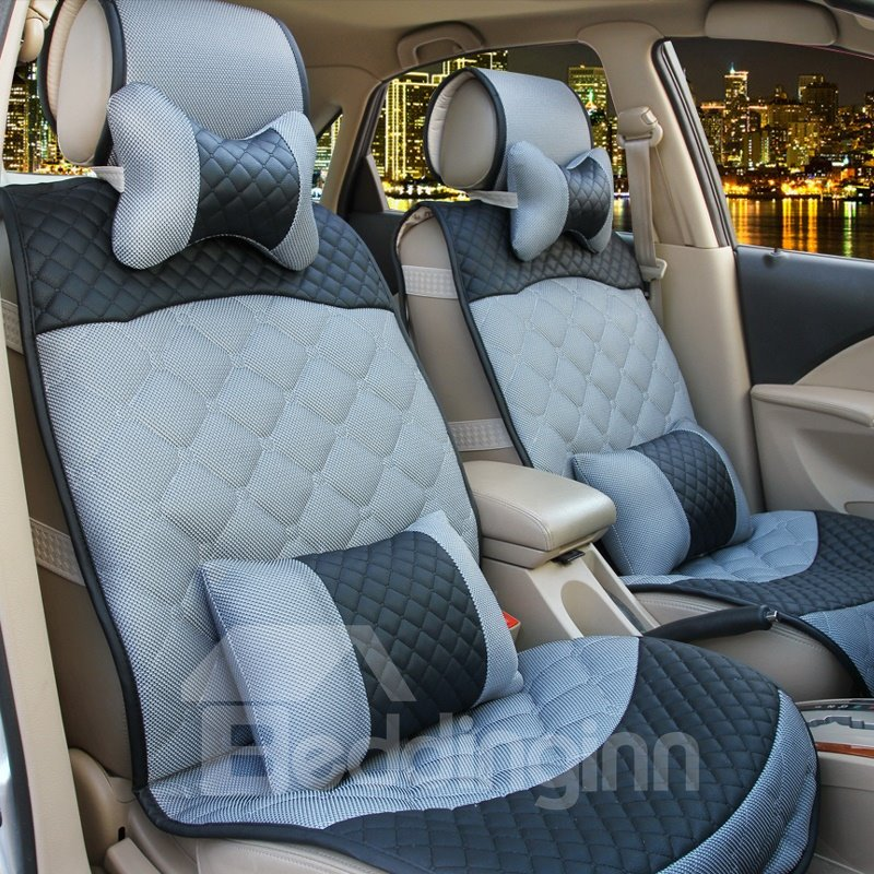 Ice Silk Linen and Sandwich Material Car Seat Covers