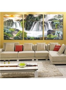 Chinese Landscape Painting 3-Piece Crystal Film Art Wall Print