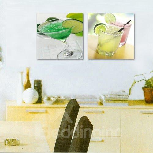 Wonderful Summer Cold Drink 2-Piece Crystal Film Art Wall Print