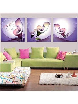 Graceful Calla Lily 3-Piece Crystal Film Art Wall Print