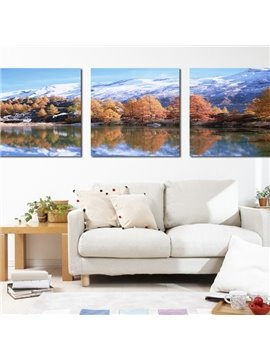 Pretty Winter Scenery 3-Piece Crystal Film Art Wall Print