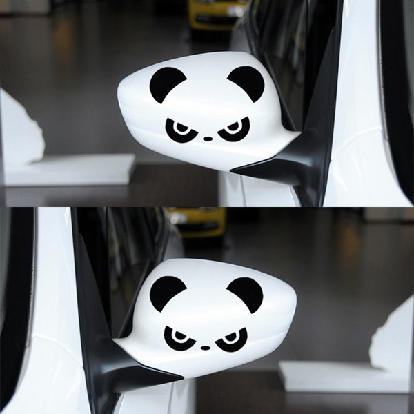 The Cute Angry Pandas Car Rear Mirrors Sticker