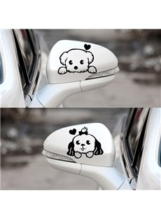The Lovely Dogs Car Rear Mirrors Sticker