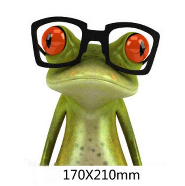 The Staring Glasses Frog Car Sticker