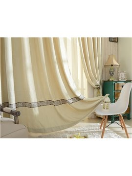 Soft and Elegant Chenille Jacquard Grommet Top Curtain