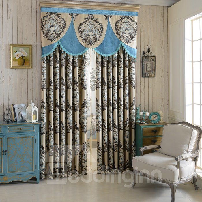 Top Class Luxury Chenille Unique Pattern High Shading Degree Curtain