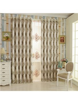 Elegant Design High Shading Degree 100% Polyester Grommet Top Curtain