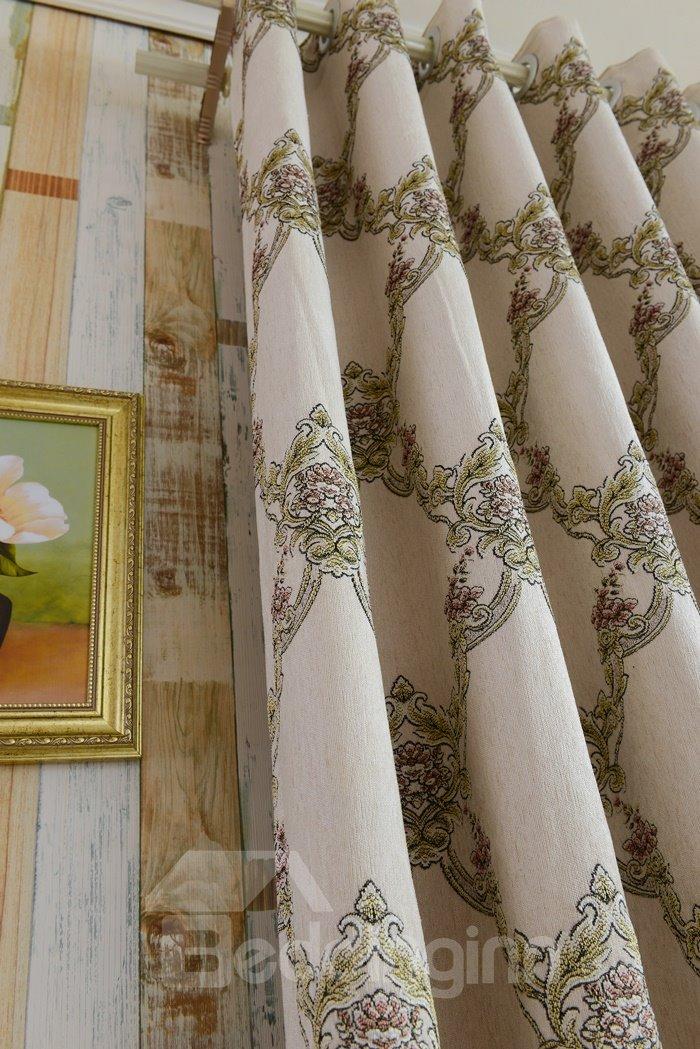 Elegant Design High Shading Degree 100% Polyester Grommet Top Curtain