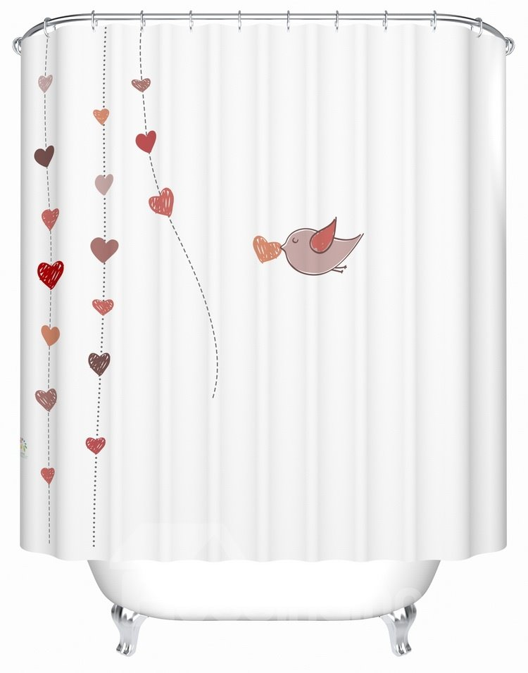 Fresh  Creative waterproof  Shower Curtains