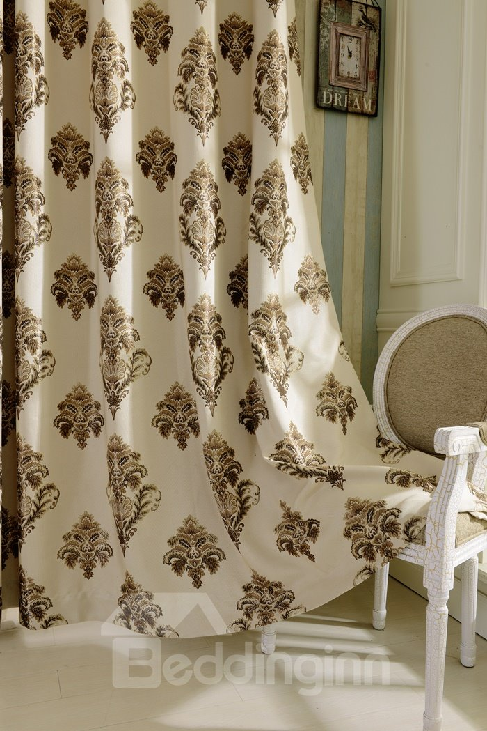 Contemporary Luxury Design High Shading Degree Grommet Top Curtain