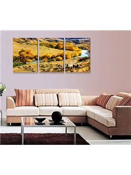 Safari Theme Wildlife 3-Piece Crystal Film Art Wall Print