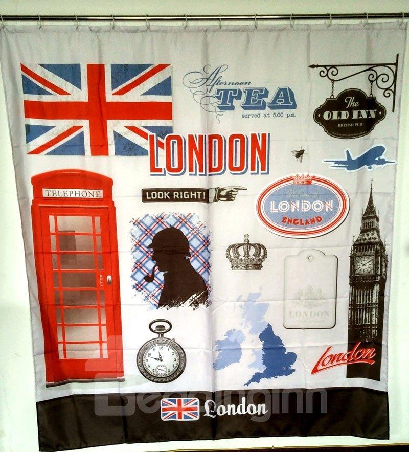 European Style Big Ben In London 3d Shower Curtains