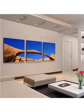 Giant Rock and Blue Sky 3-Piece Crystal Film Art Wall Print