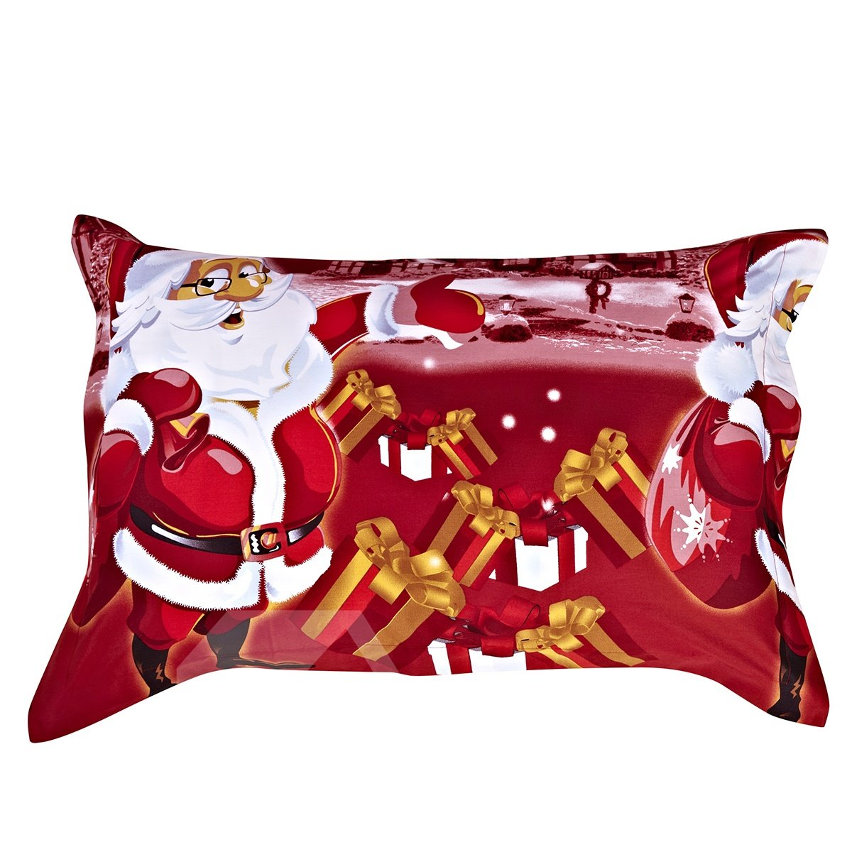 Christmas Gift 100% Cotton One Pair Pillowcases