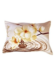 Beauty Flower From The Water One Pair Cotton Pillowcases