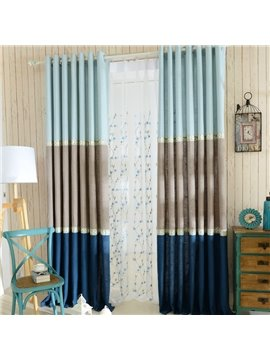 High Quality Graceful Fine Linen Grommet Top Curtain