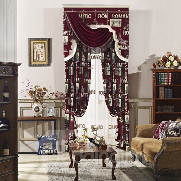 Sumptuous High Precision Chenille High Shading Degree Polyester Curtain