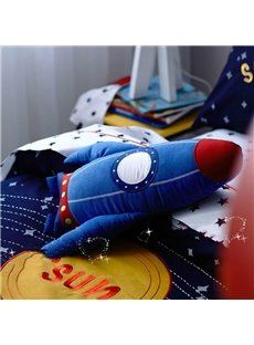 Solar System Applique Embroidery 4-Piece Cotton Kids Duvet Cover Sets