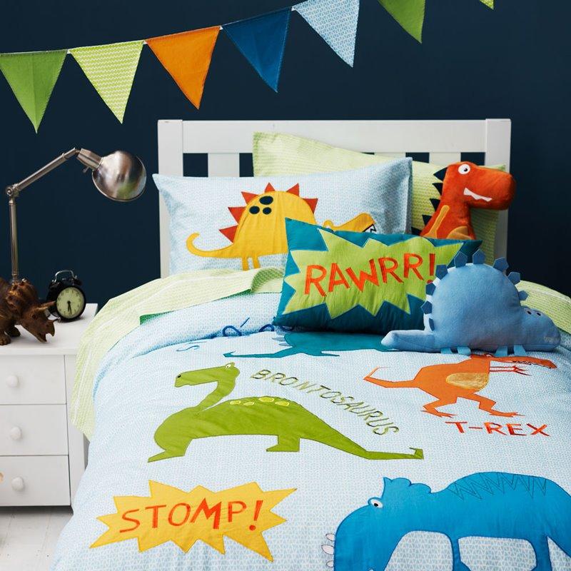 Dinosaur World 4-Piece Cotton Kids Duvet Cover Sets