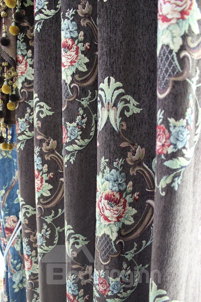 Attractive High Shading Degree High Precision Chenille Polyester Curtain