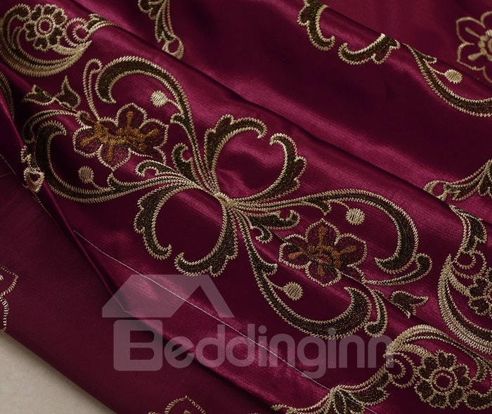 High Quality Concise Embroidery Cloths Polyester Cotton Curtain