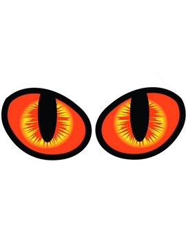 Super Cool Cat Eyes Car Sticker