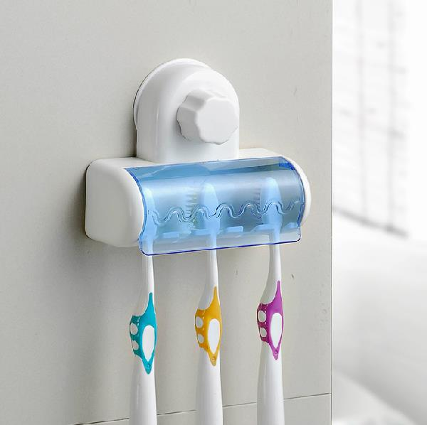 Creative Adhesive Disc Gathering Five Stages Toothbrush Holder
