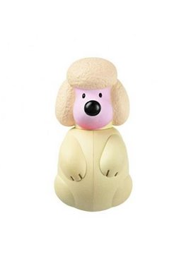 Light Yellow Cute Fun Poodle Toothbrush Holder