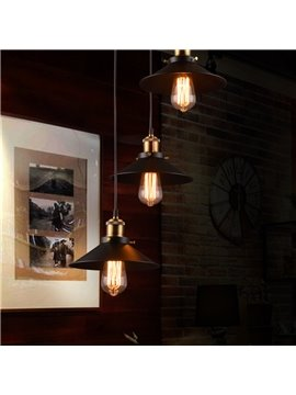 Black Nordic Retro Creative Bar Restaurant Loft Decoration 3-Head Pendant Lights