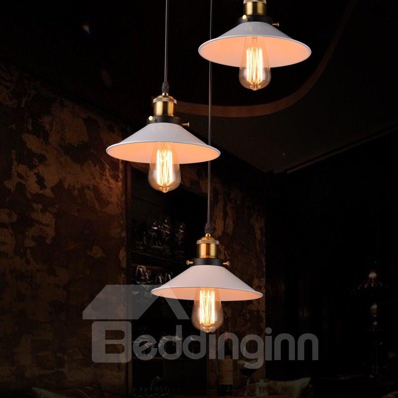 Nordic Retro Creative Bar Restaurant Loft Decoration 3-Head Pendant Lights