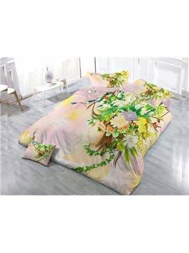 Flower Fairy 4-Piece High Density Satin Drill Duvet Cover Sets