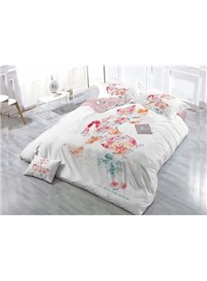 Look Into The Future  4-Piece High Density Satin Drill Duvet Cover Sets