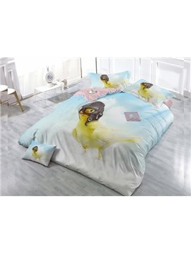 Cute Bird  4-Piece High Density Satin Drill Duvet Cover Sets