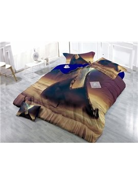 Science Fiction  4-Piece High Density Satin Drill Duvet Cover Sets