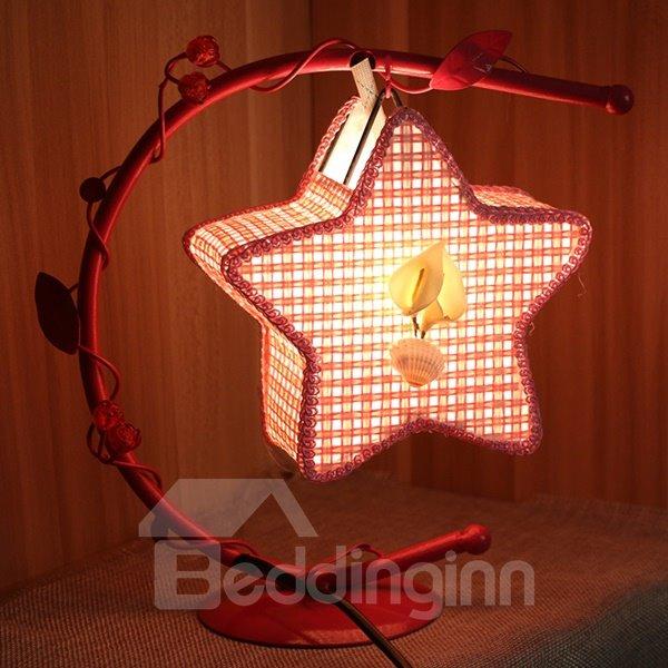 Creative Iron Frame Star Shaped Table Lamp