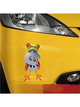 Give Your Money Frog Car Sticker