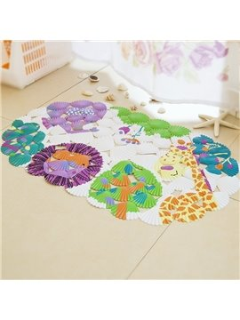 Shell Zoo Massage Salient Point PVC   Bath Mat