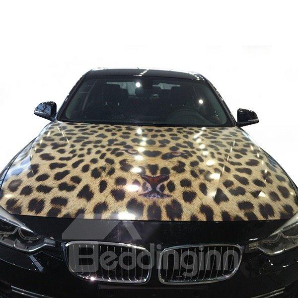 Sexy And Wild Leopard Pattern Car Engine Sticker