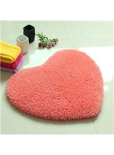 Top Quality Super Soft Ermine Heart Shaped Area Rug