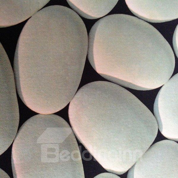 Coral Fleece Cobblestone Water Absorption Skid Resistance Soft 3D Bath Rug