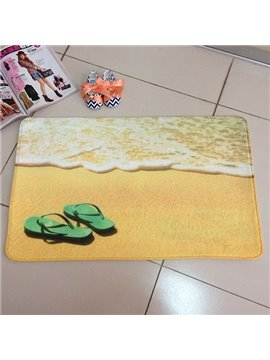 Beach Shoes Water Absorption Skid Resistance Soft 3D Bath Rug