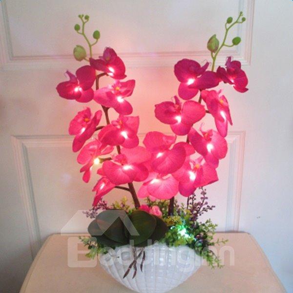Romantic Creative Colorful Blossom Flower Sets Design LED Lamp