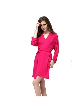 Sexy Modal Fashion Elegance  Women's Bathrobe