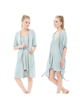 New Style Super Soft Modal Short Sleeve Women's Bathrobe