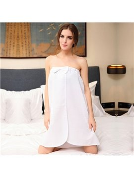 Bowknot  Sweet Sexy Boob Tube Top Women's Bathrobe