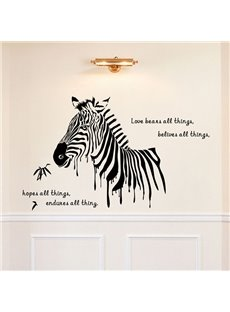 Amazing Zebra Wall Sticker Living Room TV Background Stickers