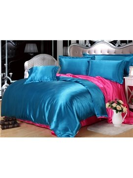 Skin Care Charming 4-Piece Lake Blue Duvet Cover Sets