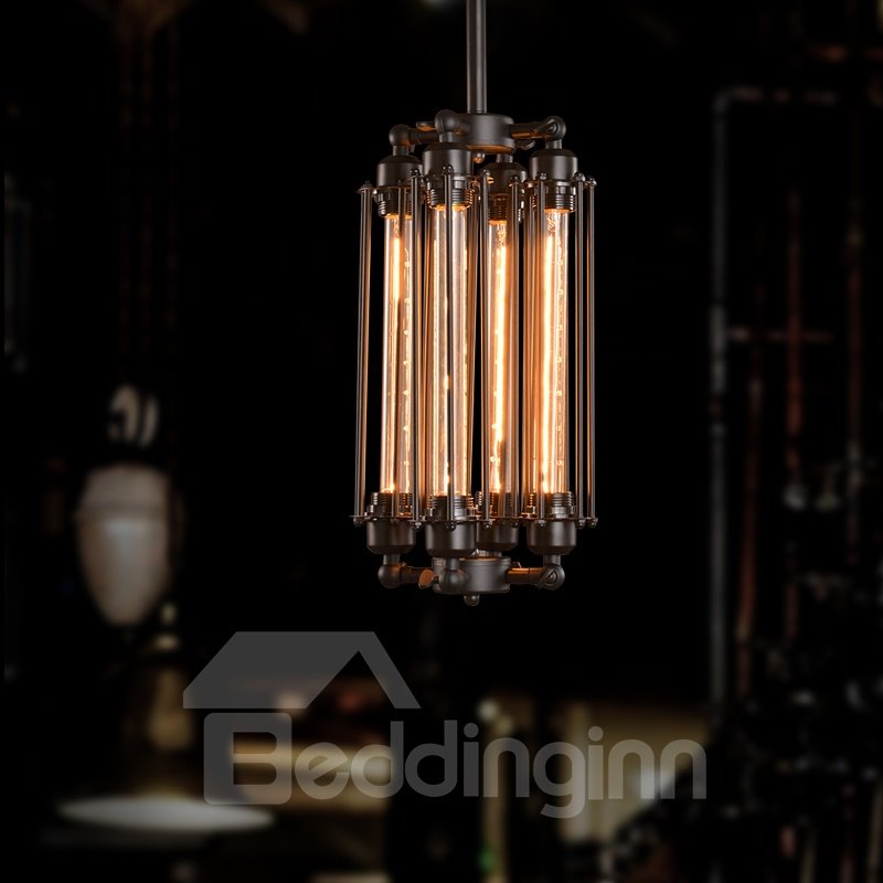 Retro Creative Coffee Bar Edison Flute 4-Head Pendant Lights
