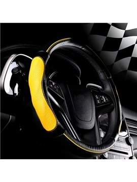 Sport Style Leather Steering Wheel Cover