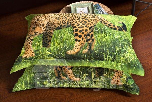 Leopard on Prairie Print 6-Piece Duvet Cover Sets